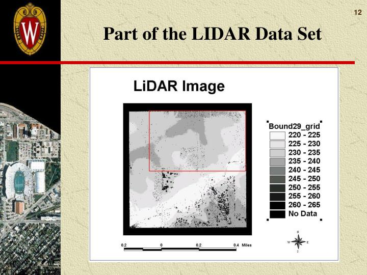 Part of the LIDAR Data Set