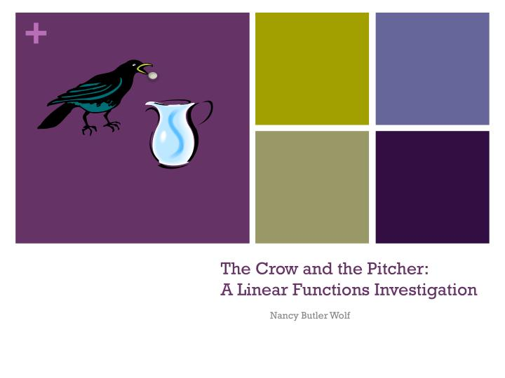 The crow and the pitcher a linear functions investigation