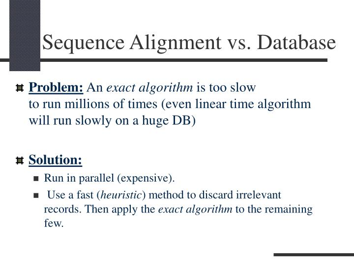Sequence alignment vs database2