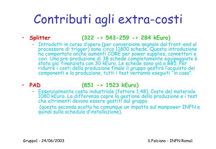 Contributi agli extra-costi