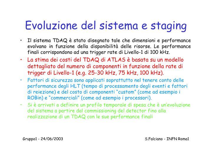 Evoluzione del sistema e staging