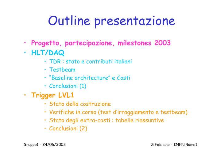 Outline presentazione