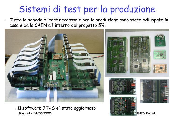 Sistemi di test per la produzione