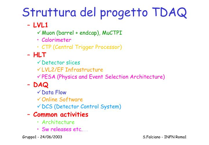 Struttura del progetto TDAQ