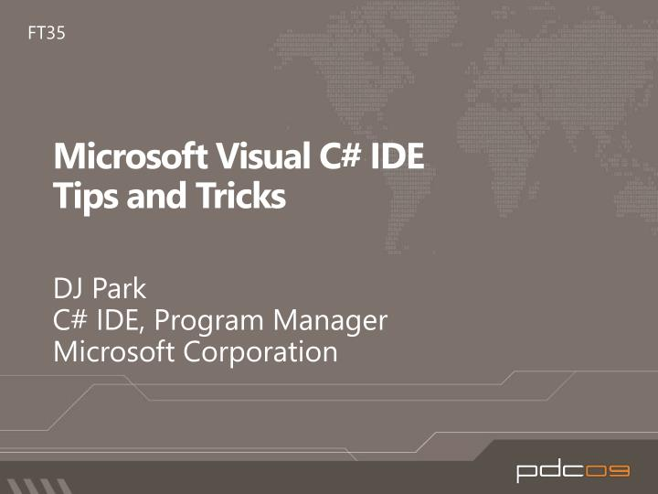 Microsoft visual c ide tips and tricks