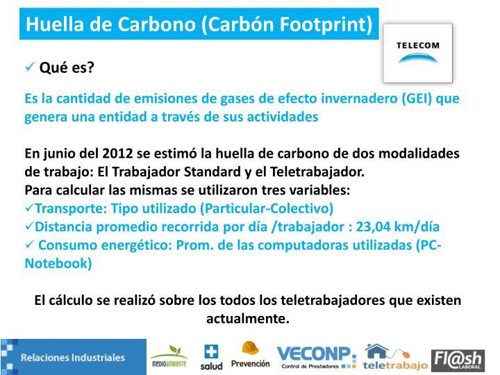 Huella de Carbono (Carbón Footprint)