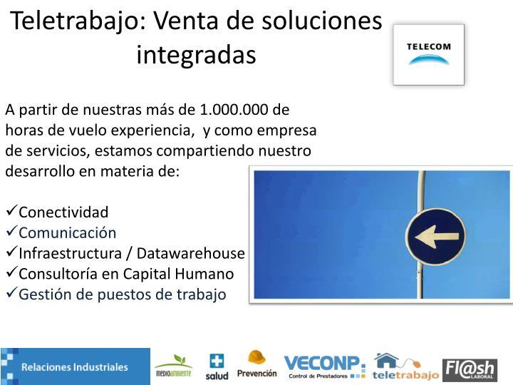 Teletrabajo: Venta de soluciones integradas