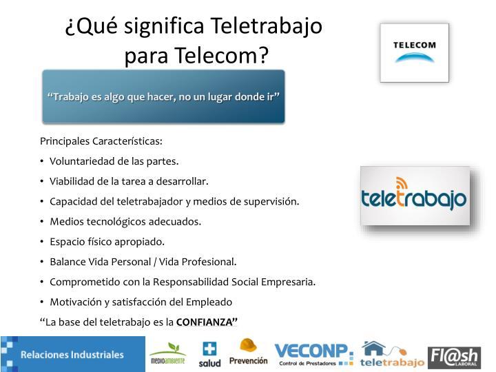 ¿Qué significa Teletrabajo