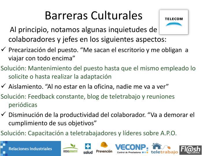 Barreras Culturales