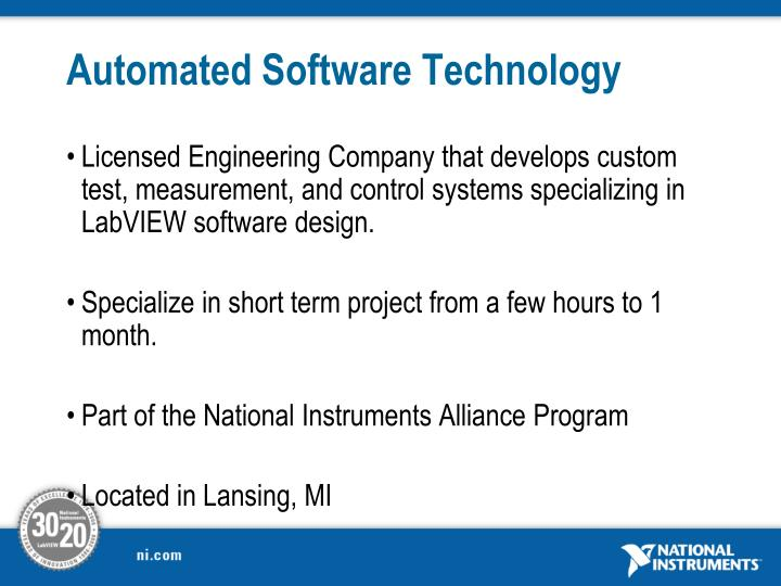 Automated software technology