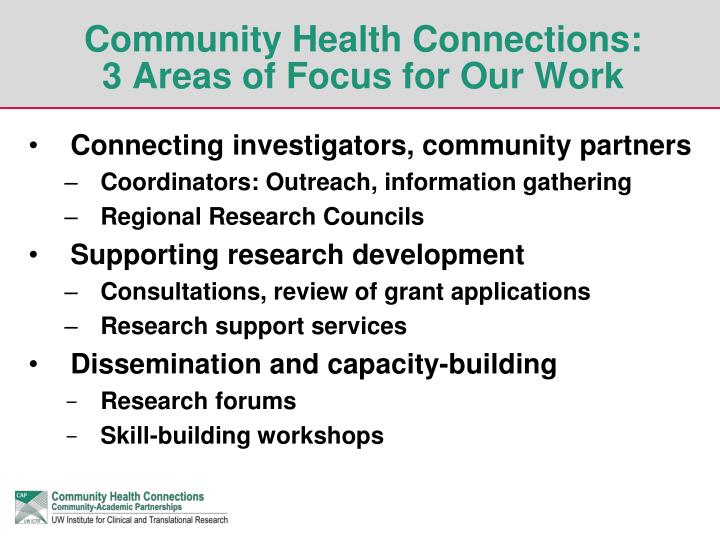 Community Health Connections: