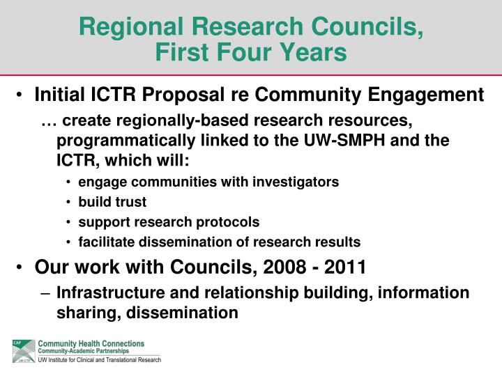 Regional Research Councils,
