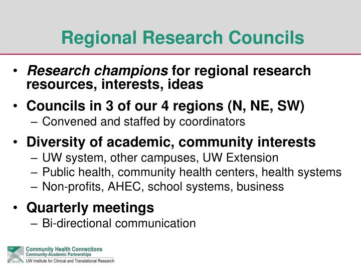 Research champions