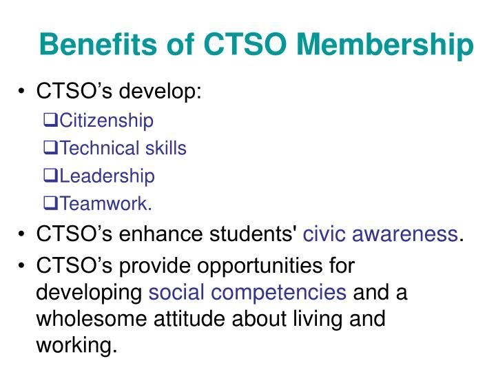 Benefits of CTSO Membership
