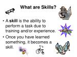 what are skills