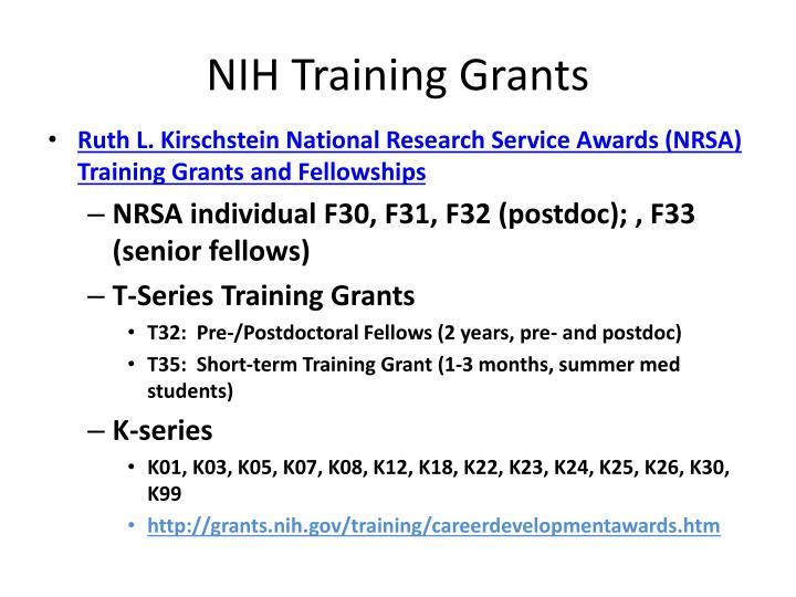 NIH Training Grants