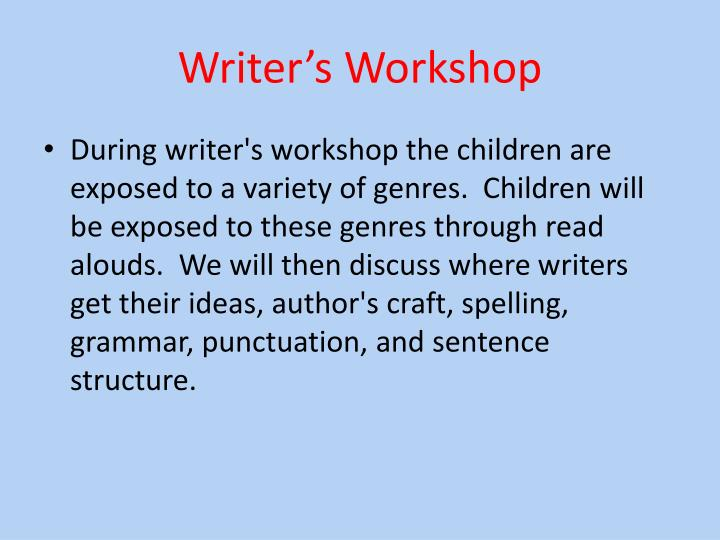 Writer s workshop