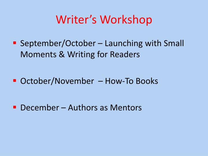 Writer s workshop1