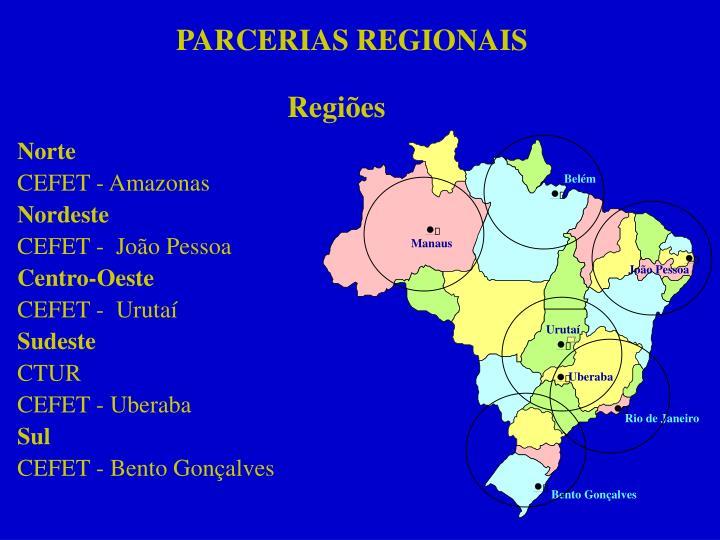 PARCERIAS REGIONAIS