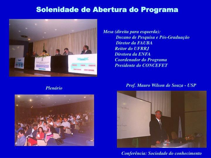 Prof. Mauro Wilson de Souza - USP