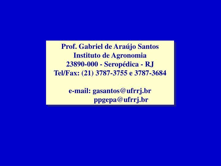 Prof. Gabriel de Araújo Santos