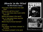 blowin in the wind by bob dylan 1963