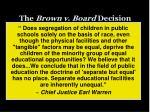 the brown v board decision