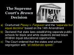 the supreme court s brown decision