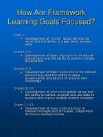how are framework learning goals focused