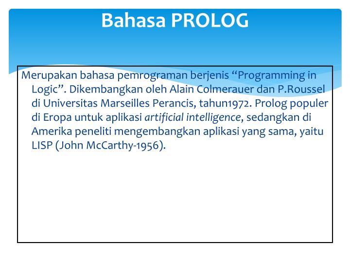 Bahasa PROLOG