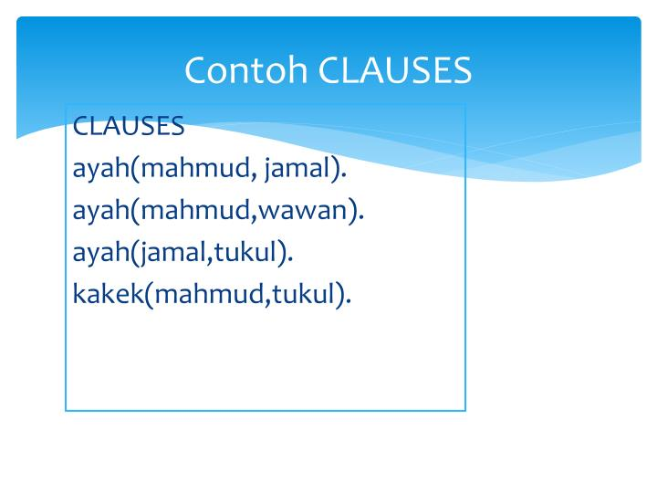 Contoh CLAUSES