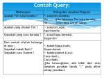 contoh query