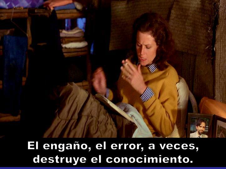 El engaño, el error, a veces, destruye el conocimiento.