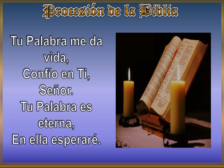 Procesión de la Biblia