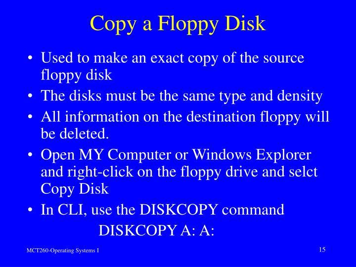 Copy a Floppy Disk