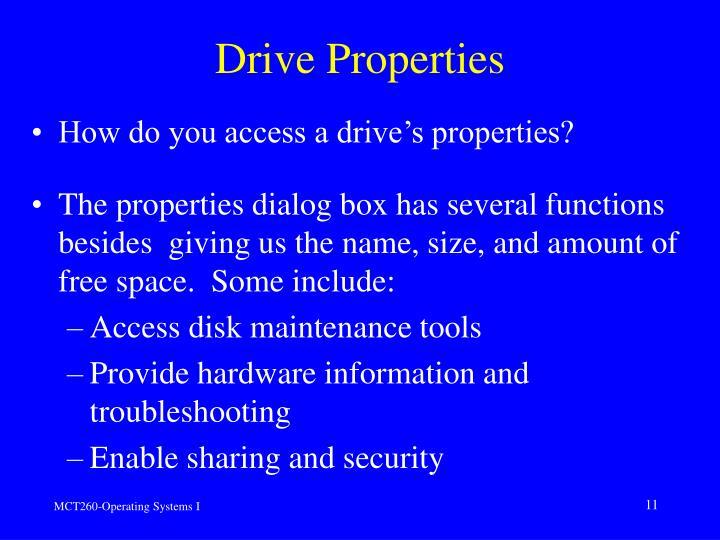 Drive Properties