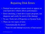 repairing disk errors