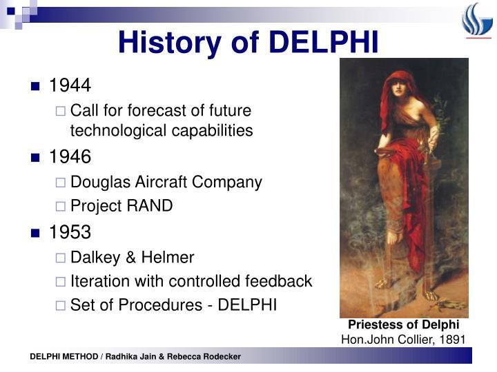 History of DELPHI