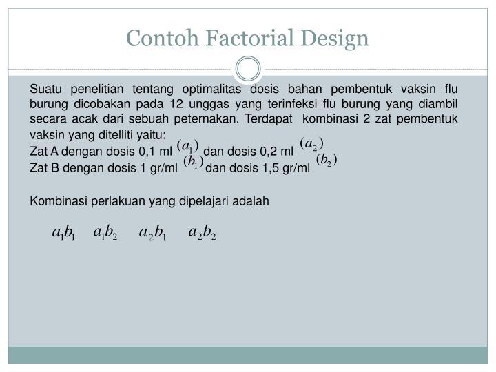 Contoh Factorial Design