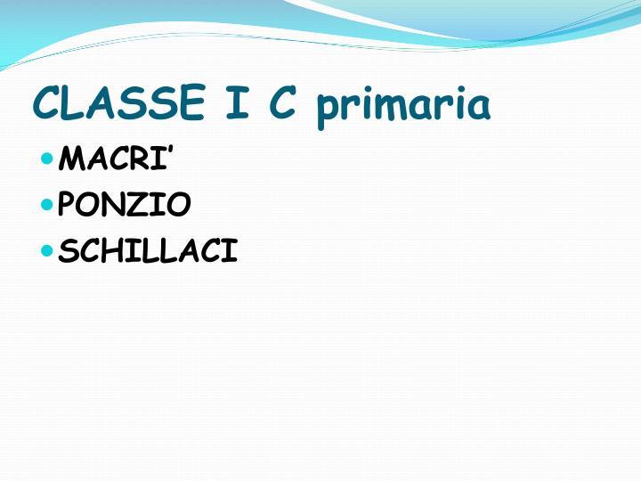 CLASSE I C primaria