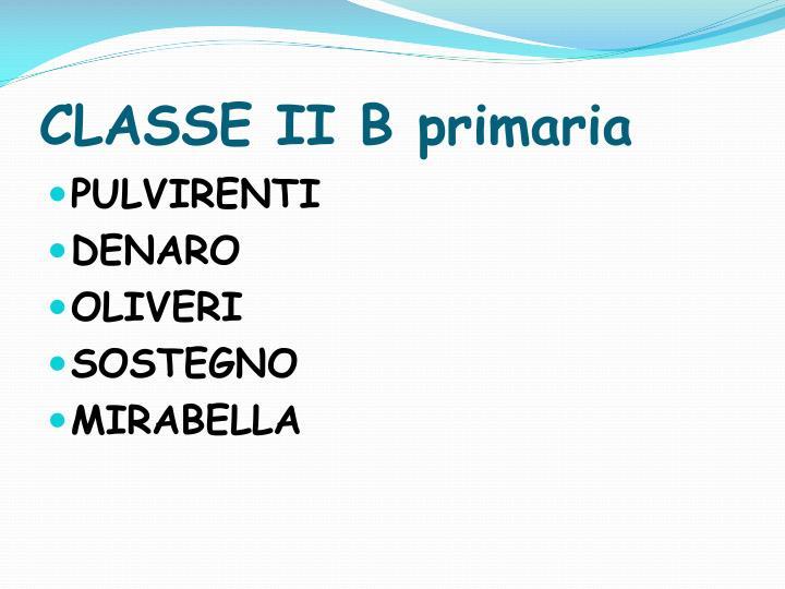CLASSE II B primaria