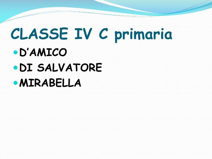 CLASSE IV C primaria