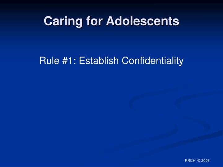 Caring for Adolescents