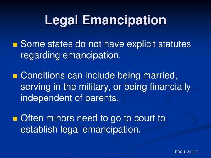 Legal Emancipation