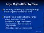 legal rights differ by state