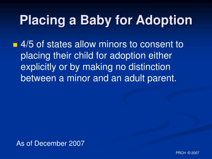 Placing a Baby for Adoption