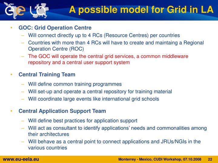 A possible model for Grid in LA