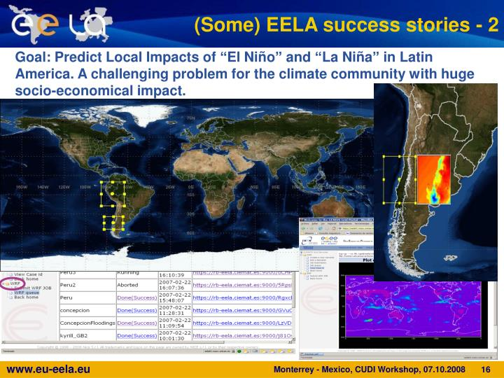 (Some) EELA success stories - 2