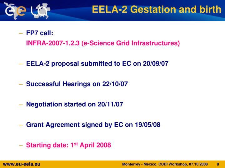 EELA-2 Gestation and birth