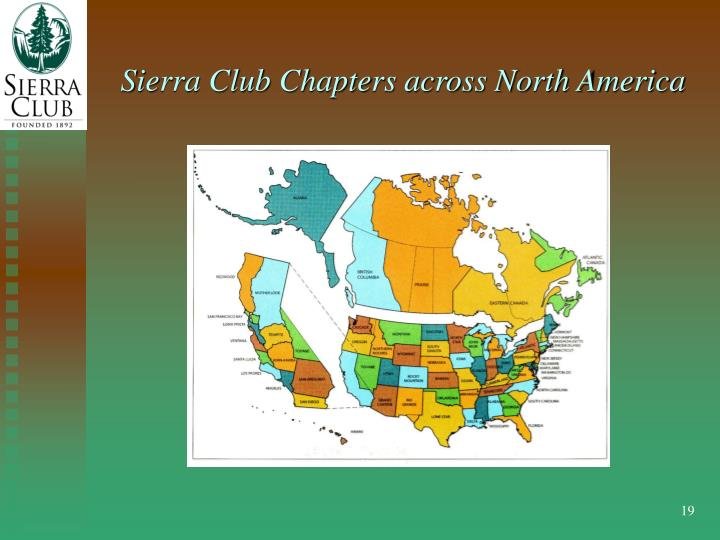 Sierra Club Chapters across North America